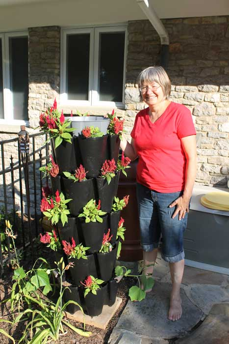 flower planter stackable